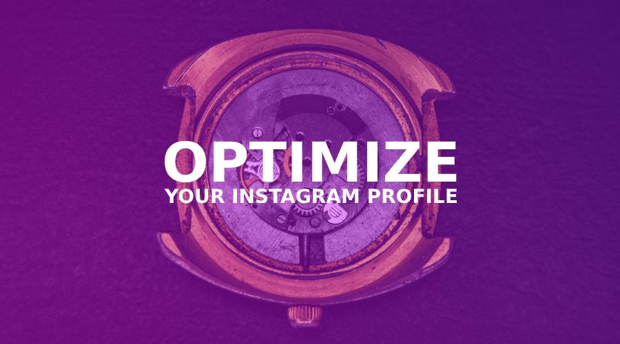 Optimize your profile