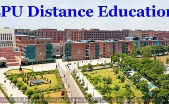 LPU university distance education