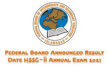 RESULT OF HSSC PART-II